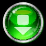 Tecla verde com seta Imagem de Stock Royalty Free