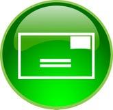 Tecla verde do email ilustração stock