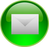 Tecla verde do email Imagem de Stock Royalty Free