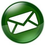 Tecla verde do email Imagem de Stock