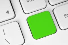 Tecla verde em branco no teclado Imagens de Stock