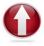 Tecla vermelha circular da transferência de arquivo pela rede Foto de Stock Royalty Free
