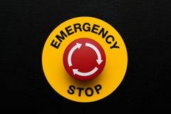 Tecla vermelha da emergência Fotografia de Stock Royalty Free