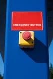 Tecla vermelha da emergência Imagens de Stock