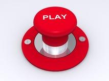 Tecla vermelha do jogo Fotografia de Stock Royalty Free