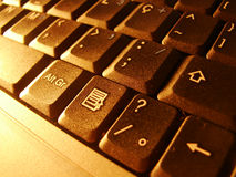 Teclado 2 do portátil Fotos de Stock Royalty Free