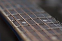 Teclado abstracto de la guitarra acústica Fotos de archivo libres de regalías