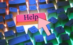 Teclado-Ayude Fotografía de archivo libre de regalías