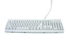 Teclado blanco clásico de la PC Imagen de archivo