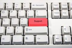 Teclado blanco con el cambio de nombre del botón Fotografía de archivo