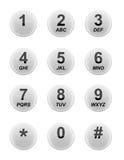 Teclado branco do telefone Fotos de Stock