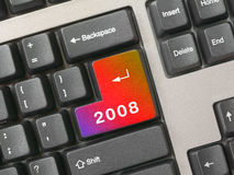 Teclado - clave 2008 Foto de archivo