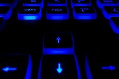 Teclado com botões leves Imagens de Stock