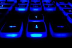 Teclado com botões leves Fotografia de Stock