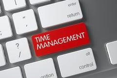 Teclado com chave vermelha - gestão de tempo 3d Fotos de Stock Royalty Free