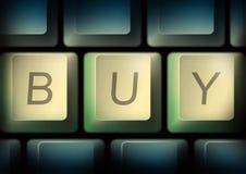 Teclado com com palavra da compra Foto de Stock