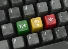 Teclado com escolhas do voto Imagens de Stock