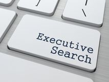 Teclado com o botão executivo da busca. Fotos de Stock Royalty Free