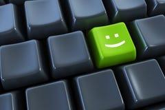 Teclado com tecla do sorriso Fotografia de Stock Royalty Free