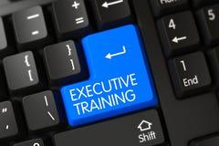 Teclado com teclado azul - treinamento executivo 3d Imagem de Stock