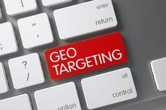 Teclado com teclado vermelho - escolha de objetivos de Geo 3d Imagens de Stock