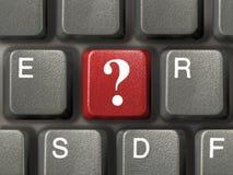 Teclado con clave de la pregunta imagen de archivo