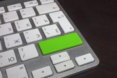 Teclado con el botón puro del color Verde Fotos de archivo libres de regalías