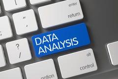 Teclado da análise de dados 3d Imagens de Stock