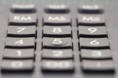 Teclado da calculadora Foco macio fotos de stock