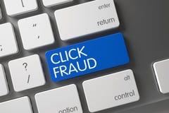 Teclado da fraude do clique 3d ilustração stock