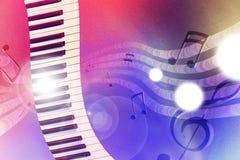 Teclado da ilustração com as luzes vermelhas e azuis horizontais Imagem de Stock