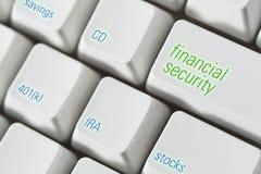 Teclado da segurança financeira Foto de Stock Royalty Free