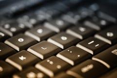 Teclado de computador com botões pretos, fim acima como o fundo para Fotografia de Stock Royalty Free