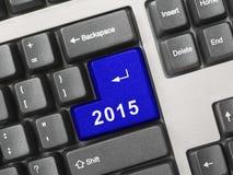 Teclado de computador com chave 2015 Fotografia de Stock