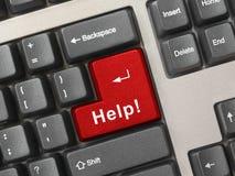 Teclado de computador com chave de ajuda Imagem de Stock Royalty Free