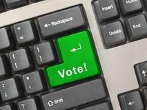 Teclado de computador com chave do voto Fotografia de Stock Royalty Free