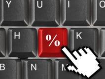 Teclado de computador com chave dos por cento Imagem de Stock