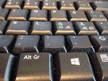 Teclado de computador com letras suecos e escandinavas Fotografia de Stock Royalty Free