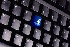 Teclado de Facebook Foto de archivo libre de regalías