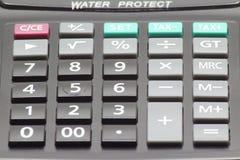 Teclado de la calculadora fotografía de archivo libre de regalías
