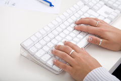Teclado de la computadora de escritorio Imagen de archivo