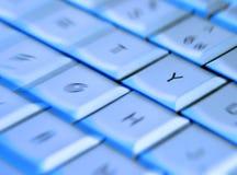 Teclado de la computadora portátil imágenes de archivo libres de regalías