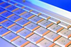 Teclado de la computadora portátil del ordenador Foto de archivo libre de regalías