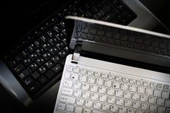 Teclado de la computadora portátil y del netbook Foto de archivo