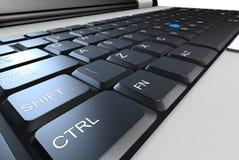 Teclado de la computadora portátil Fotografía de archivo