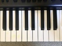 Teclado de la música imagenes de archivo