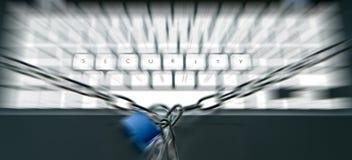 Teclado de la seguridad imagenes de archivo