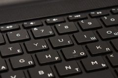 Teclado de laptop imagem de stock royalty free