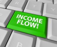 Teclado de los ingresos del beneficio de la inversión del dinero de la ganancia del flujo de renta pero Imagen de archivo
