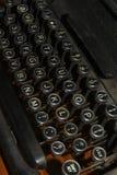 Teclado de máquina de escrever antigo Fotografia de Stock